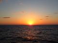 貨物客船から日の出を見たよ