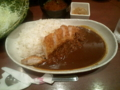 新宿さぼてんのロースかつカレー麦ご飯大盛、いただきます♪