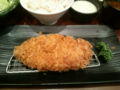 新宿さぼてんのランチロースかつ定食+とろろ、いただきます♪
