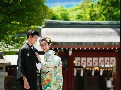 神前式による結婚式