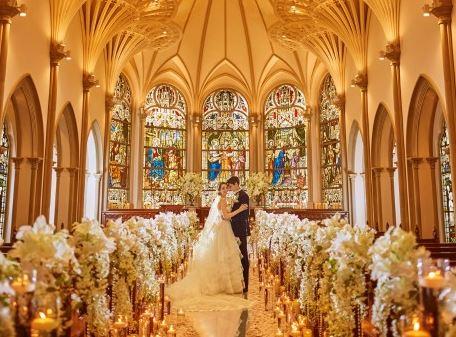キリスト教式による結婚式