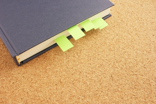 読書感想文の本に付箋を付ける