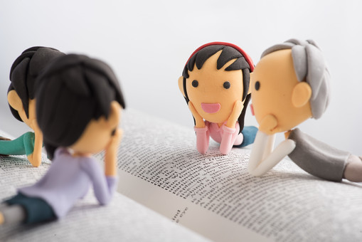 読書感想文の書き方について家族で相談