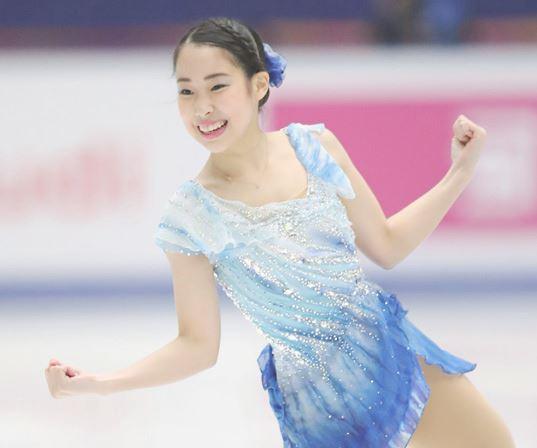 女子フィギュア選手の三原舞依