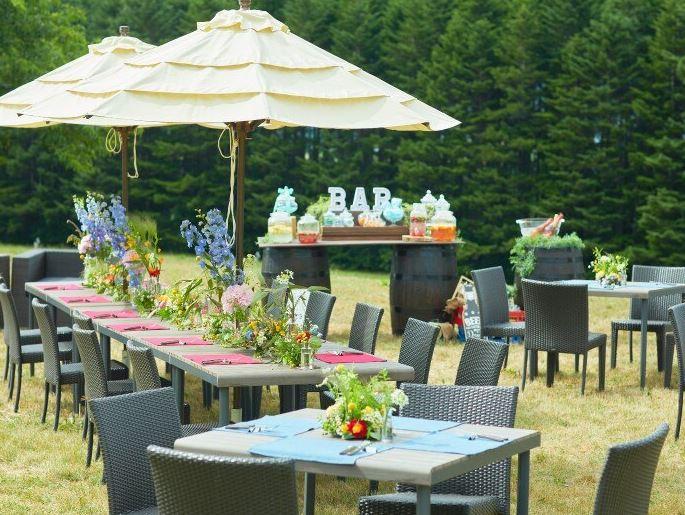 富良野で少人数の結婚式におすすめのイルムの丘のガーデンウェディング