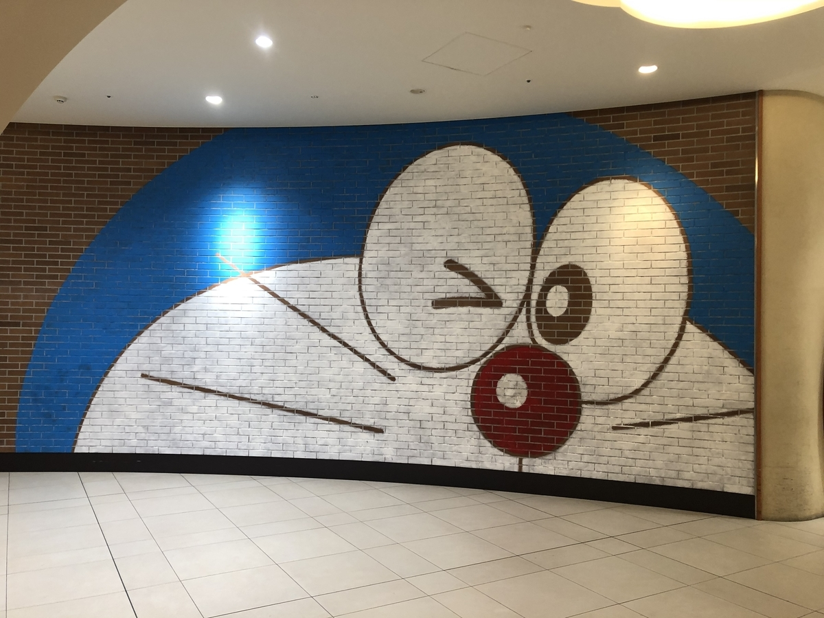 新千歳空港のドラえもんわくわくスカイパークの壁画