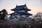 弘前城夕暮れ前