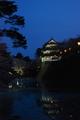 夕暮れ弘前城