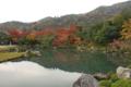 天龍寺の紅葉は背景込みで