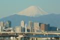 羽田空港から富士山がきれいです