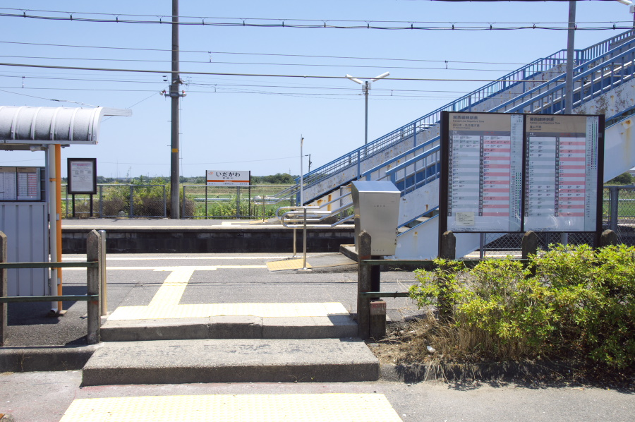 井田川駅には駅舎がない