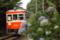 昼のアジサイ電車