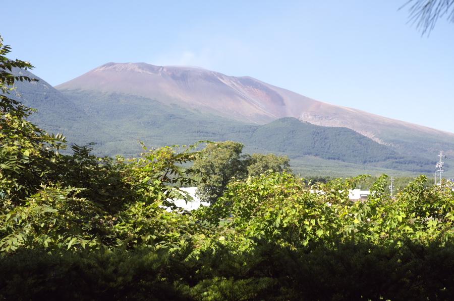 美術館から見る浅間山