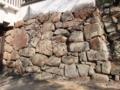 岡山城の石垣っ