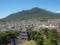 島原城から眉山方向