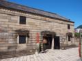 考古資料館になっている煉瓦造りの建物
