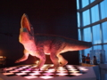 ギロッポンの中心でアイを叫ぶ恐竜