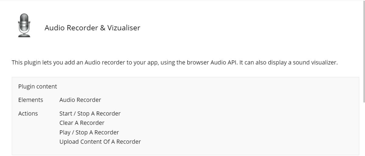 「Audio Recorder & Vizualiser」