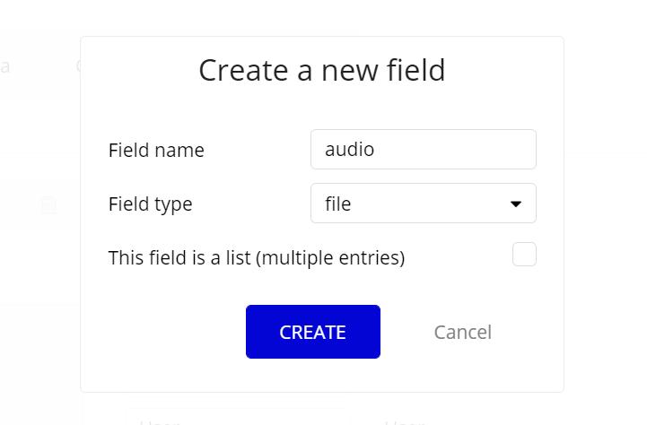音声データのデータベース追加