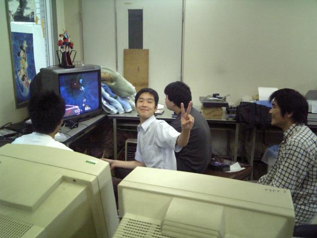 研究室での風景1