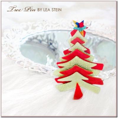 クリスマスツリーのブローチ LEA STEIN(リアスタイン)