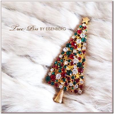 クリスマスツリーのブローチ EISENBERG(アイゼンバーグ)