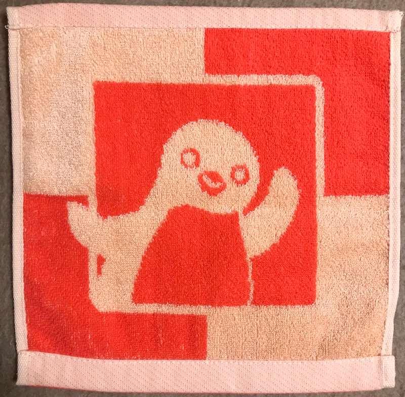 fSuicaペンギンのハンドタオル裏