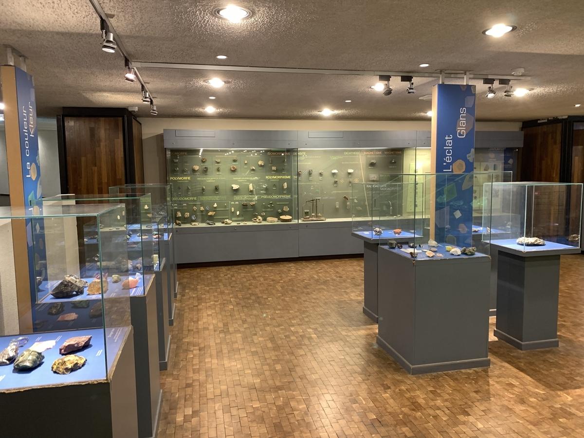 ブリュッセル 鉱石展示