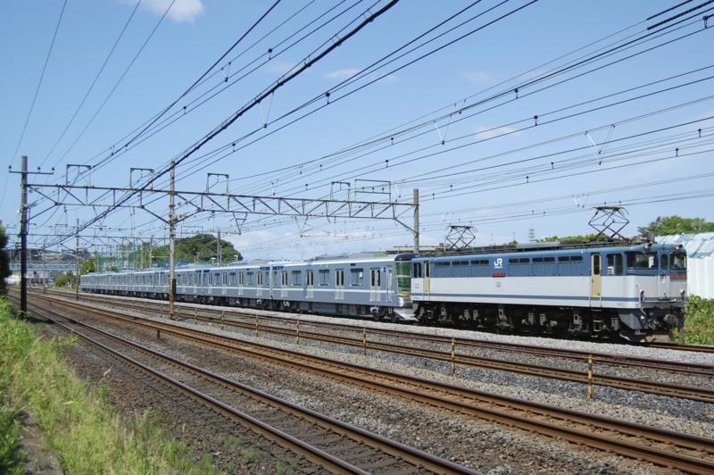 EF65 2070号機牽引東京メトロ13107F