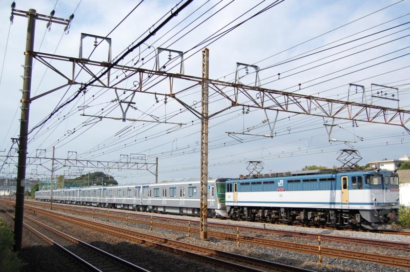 EF65 2117号機牽引東京メトロ13114F