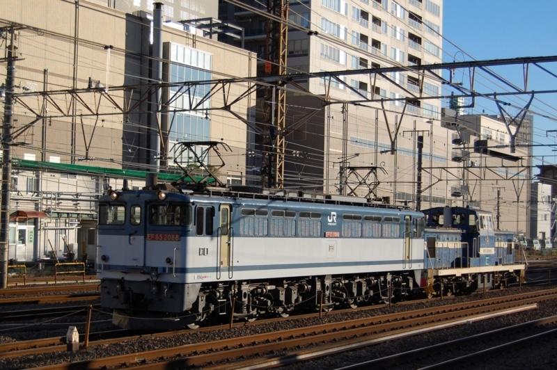 EF65 2088号機牽引DD602号機