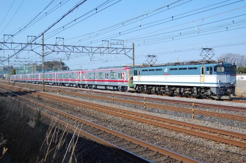 EF65 2076号機牽引東武71710F