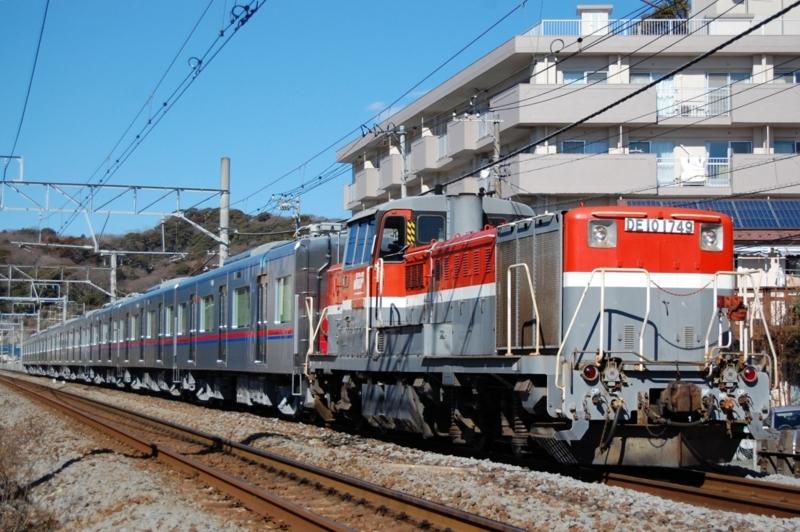DE10 1749号機牽引K'sei3038F