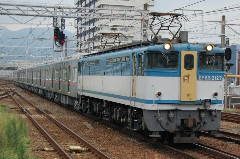 EF65 2127号機牽引K'sei3039F