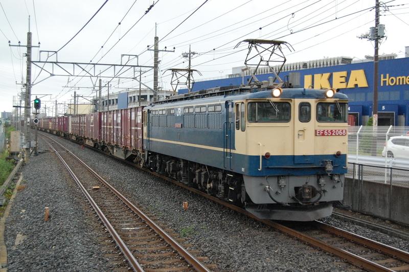 EF65 2068号機牽引77列車