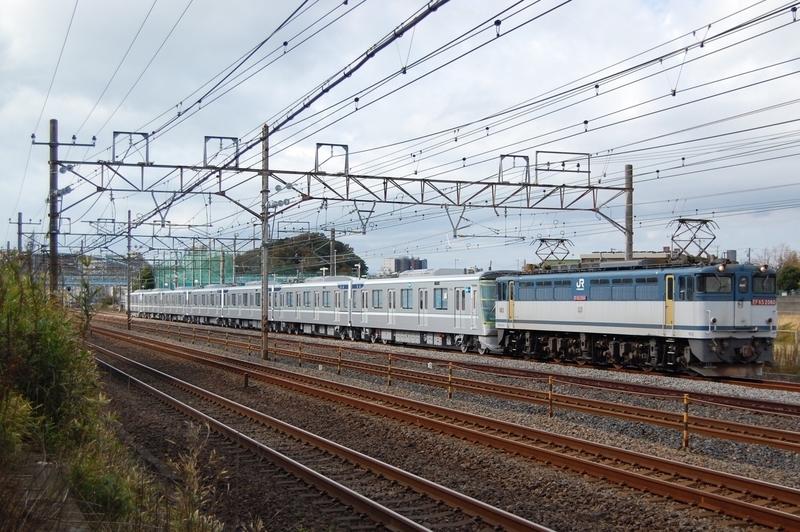 EF65 2060号機牽引東京メトロ13126F