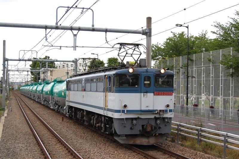 EF65 2080号機牽引8079列車