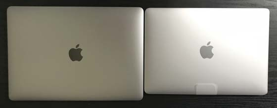 MacBook 13インチと比較