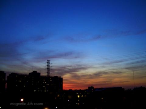 昨日と今日の夕焼け空02