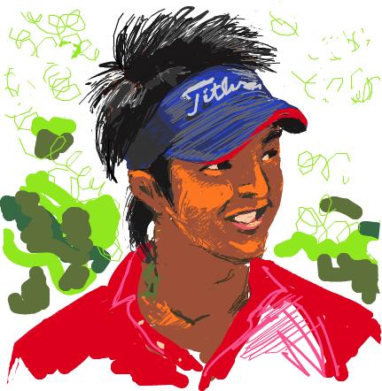 今日の落書き08-06-28 ゴルフの王子