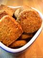 [お菓子]ペッパーチーズクッキーと胡麻クッキー