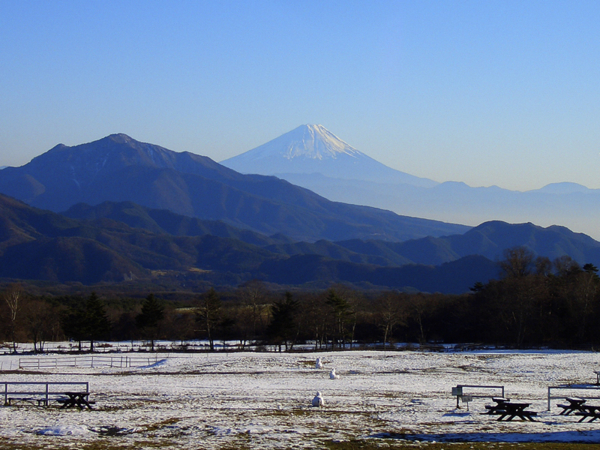 200912清里・清泉寮よりのぞむ富士山