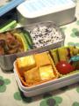 [くちぶえ][Haiku]学童弁当/鶏の照り焼き・だし巻き卵・さつまいものバター焼き