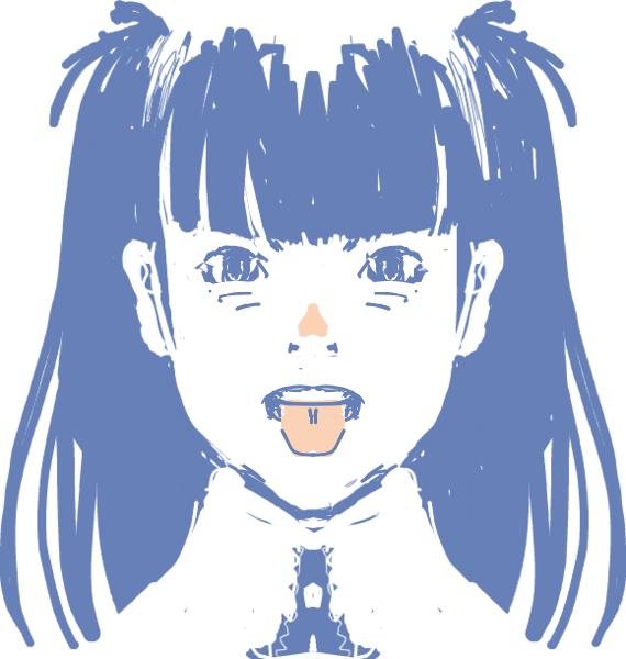 個別イラストhaiku左右対称ツールの写真画像 イラスト