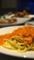 蟹のトマトソースパスタ