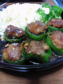 [食][料理]ピーマンの肉詰め