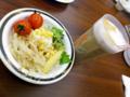 [食][食べ放題][けん]サラダとアイスコーヒー