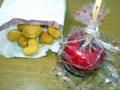 [前橋][七夕][祭り][食]七夕まつり ベビーカステラと林檎飴のお土産