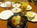 [食][びっくりドンキー]ハンバーグ&ビーフシチューの洋セット