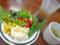 サラダとスープとドリンクと
